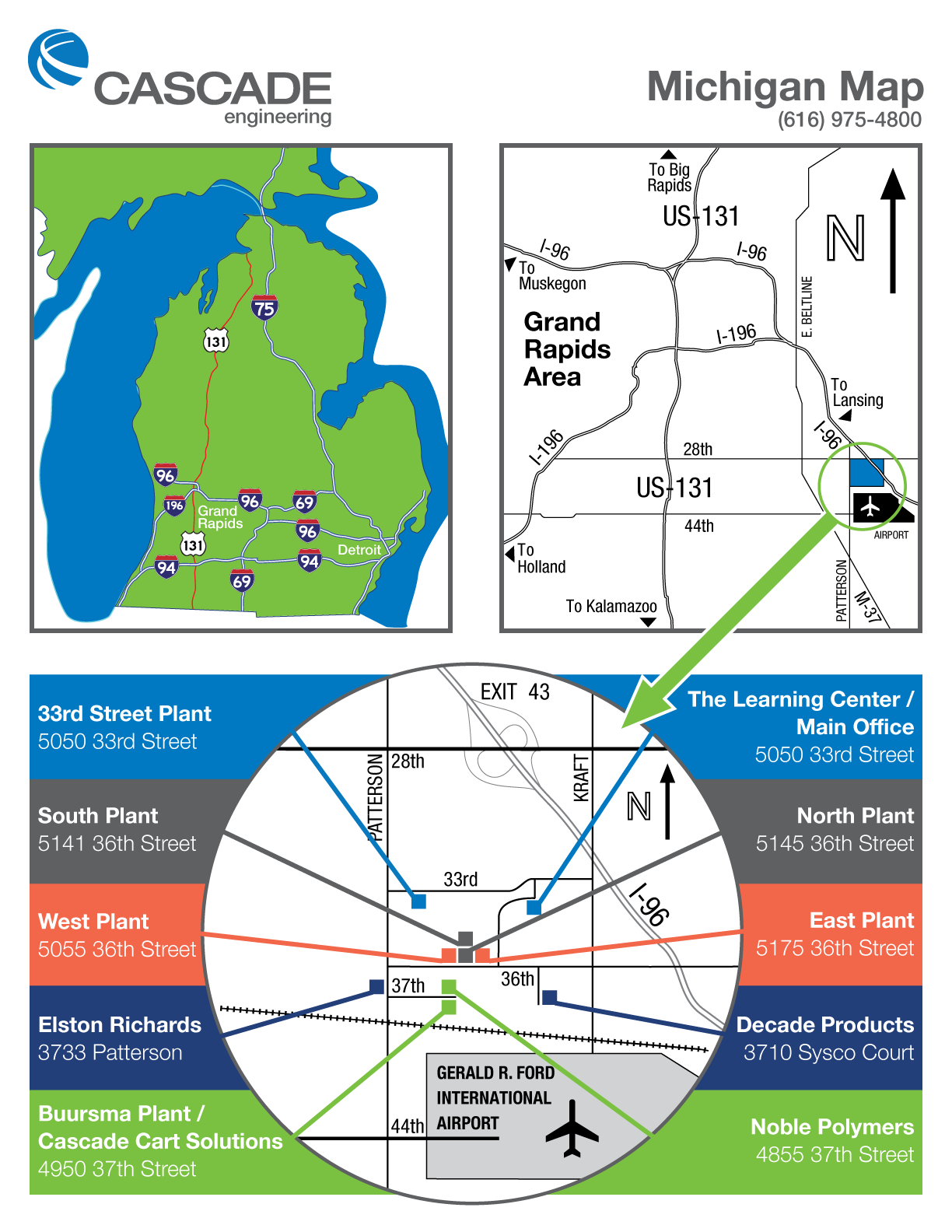 Cascade Engineering Grand Rapids Campus Map