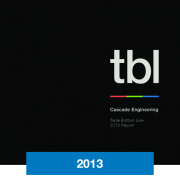2013 Triple Bottom Line Report Cascade Engineering