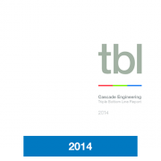 2014 Triple Bottom Line Report Cascade Engineering